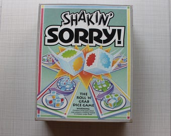 Shakin' Sorry Board Game Parker Brothers 1992