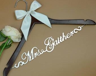 Wedding Hanger Personalized Wedding Dress Hanger, Bridal Hanger for Bride, Bridal Shower Gift,Bridesmaid Dress Hanger, Wedding Gift