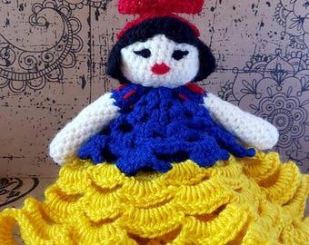 Snow white princess blanket doll