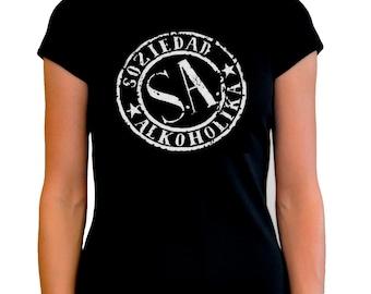 T-shirt woman Soziedad alkoholika T shirt woman girl several sizes different sizes s.a.