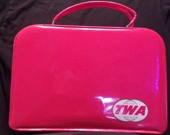 1970s vintage TWA flight attendant bag