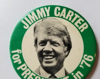 Jimmy Carter for President in '76 Campaign Button