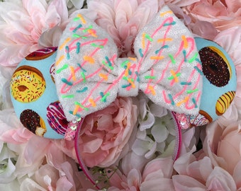 Donuts/ food/ sweet/ snack/ yummy/ sprinkles/ headband/ bow