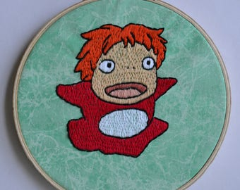 Ponyo Hand Embroidery