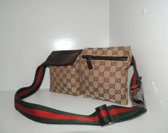 Gucci  belt waist vintage messenger bag crossbody web