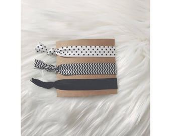 BLACK PRINTS Elastic Hair Tie Set