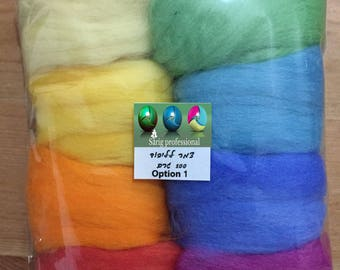 DIY Accessories Craft Felt Marino Dyed Wool Set 8 Colors 100 gr  For yours Imagination - Unique Gift & Family Time