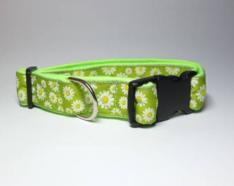 Chamomile Dog Collar With A Soft Lining