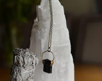 A sweet little Black Tourmaline pendant.
