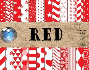 Digital Paper - Red Patterns