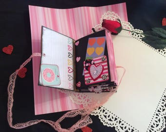 Valentines junk journal