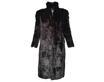 Dyed Rabbit Fur Coat - Women's Size L