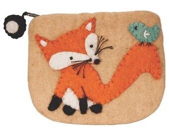 Love FELT COIN PURSE - Fox