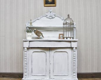 Small French Painted Chiffonier Sideboard