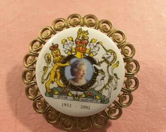 Vintage Queen's Golden jubilee commemorative button.