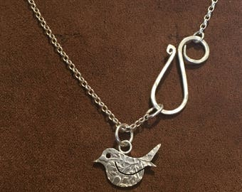 Little Bird Silver Sixpence Pendant