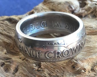 Half Crown Coin Ring