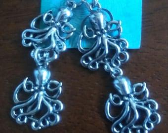 Double Octopus Earrings