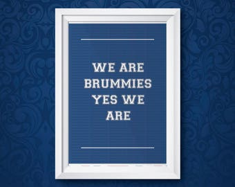 We Are Brummies (A3 Print UNFRAMED)