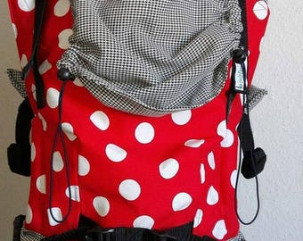 Handmade soft structured carrier 'Girly Dots'