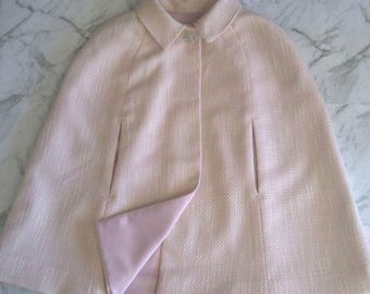 Pink and cream child's cape size 4/5