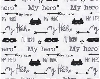 My Hero black white grey fabric