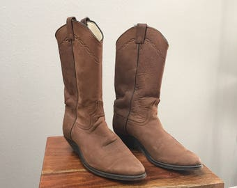Vintage - 80s RARE Tony Lama suede boots, 6.5, made in USA