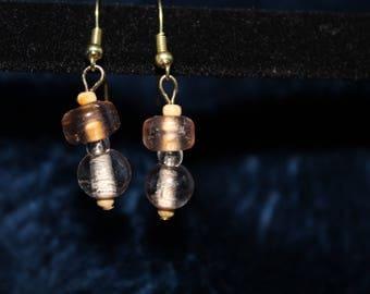 Funky Boho Wood Bead Earrings