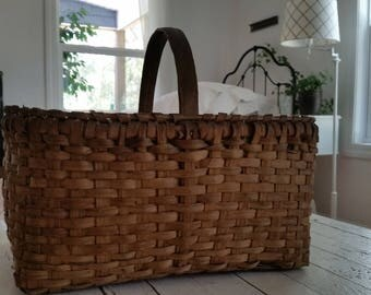 Vintage Basket With Beautiful Weave