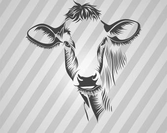 Cow - Svg Dxf Eps Silhouette Rld RDWorks Pdf Png AI Files Digital Cut Vector File Svg File Cricut Laser Cut