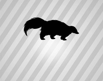 Skunk Silhouette - Svg Dxf Eps Silhouette Rld RDWorks Pdf Png AI Files Digital Cut Vector File Svg File Cricut Laser Cut