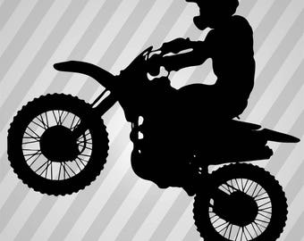 Dirt Bike Silhouette - Svg Dxf Eps Silhouette Rld RDWorks Pdf Png AI Files Digital Cut Vector File Svg File Cricut Laser Cut