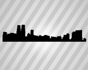 City Skyline Silhouette -  Svg Dxf Eps Rld Rdworks Pdf Png Ai Files Digital Cut Vector File Svg File Cricut Laser Cut
