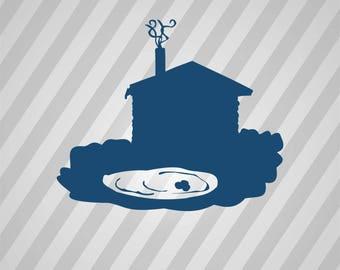 Blockhouse Silhouette - Svg Dxf Eps Rld Rdworks Pdf Png Ai Files Digital Cut Vector File Svg File Cricut Laser Cut