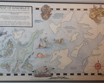 Hand-drawn Victorian-styled Map of the Summerlands
