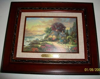 Listing 046 is the Thomas Kinkade Prestige A New Day Dawning Accent Print with COA
