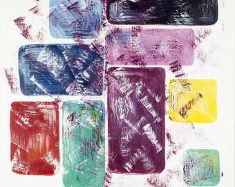 Squares, Original painting, Geometry Art