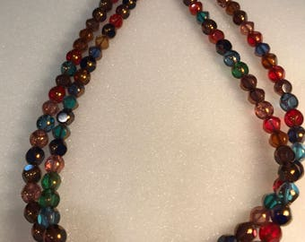 Jewel Tone Beaded Necklace