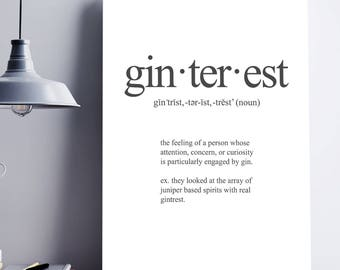 Gintrest - Witty Wall Print