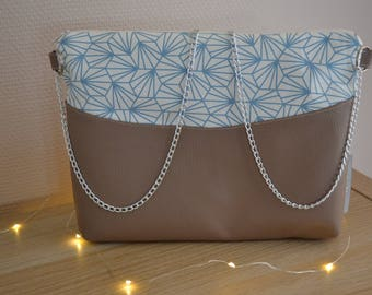 """""""Origami"""" bag with chain"""