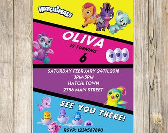 Hatchimals Birthday Invitation