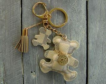 Keyring / handbag charm: teddy bear