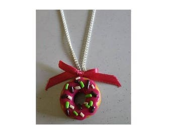 Necklace pink Donut