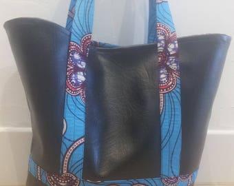 Wax and black tote bag