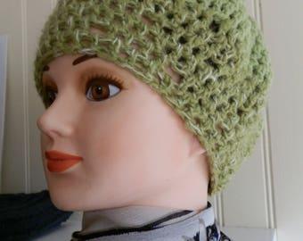 FISHNET CROCHET GREEN HAT