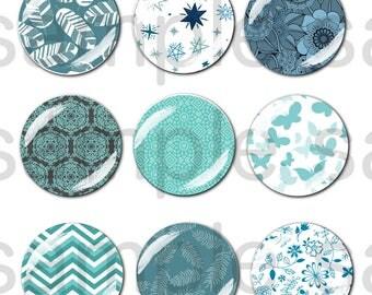 45 Images Blue Pattern digital 30-25-20mm