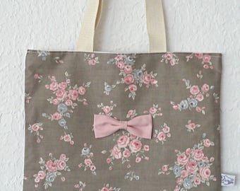 Tote bag adult Liberty / bow to order