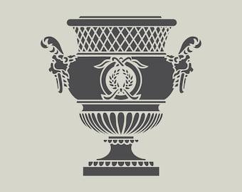 Antique Medicis vase (ref 450) adhesive vinyl stencil