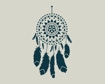 Dream catcher stencil. Adhesive vinyl stencil. Dream catcher. (ref 542)