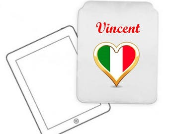 Cover for tablet pc Italy personalized with name